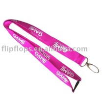 CMYK Submliamtion polyester lanyard strap with plastic buckle