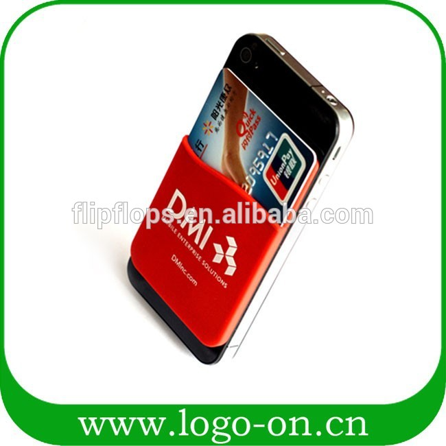 china silicone mobile phone card holder
