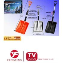 Removable portable telescopic plastic snow shovels