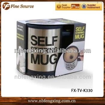 LAZY MAN CUPS SELF STIRRING MUG