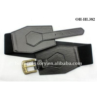 Womens Girls Black Wide Elastic Waist CINCH Belts NEW