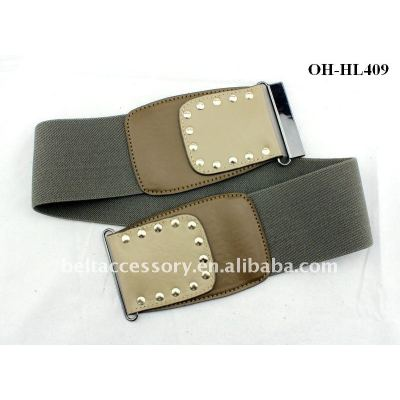 Easy match flexible faux-leather buckles for elastic belts
