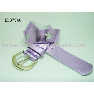 Fashion child belts with stars