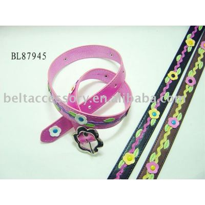 child belt with cute flowers
