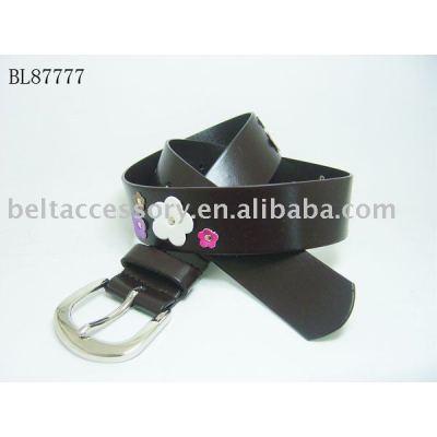 fashion kids belt With Flower Ornament