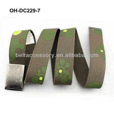 Camouflage canvas belt for kid