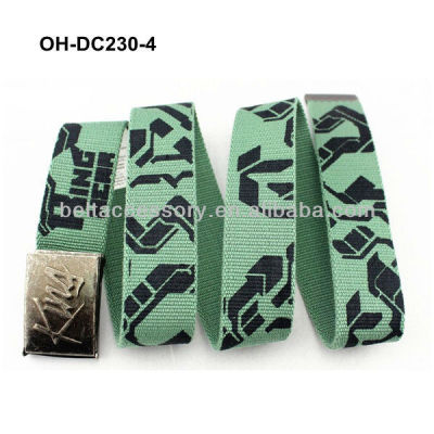 Green canvas superman belts for boys