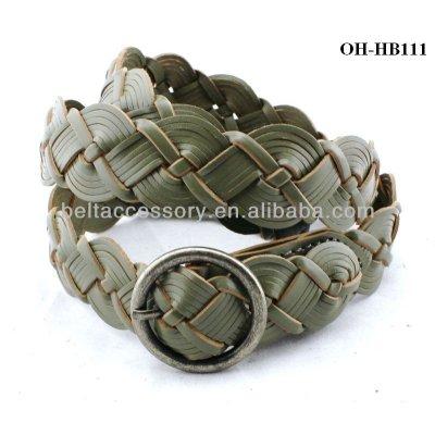 Braided grey belt accessories for waist