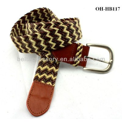Import Bonded leather material knitted belt