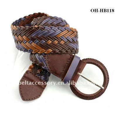 Colorful Braided Fashion Belt