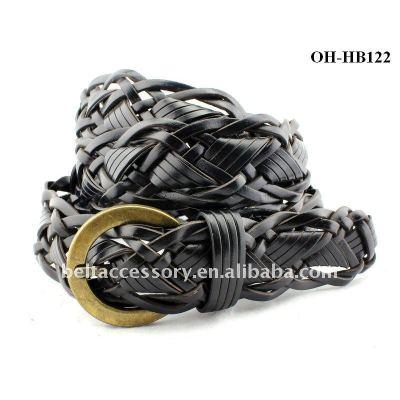 BLACK Color Plaited Belts