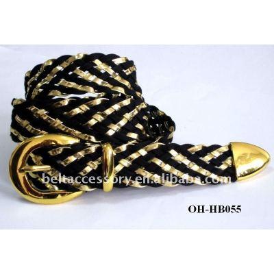 GOLDEN BLACK Mixed Braided Belt