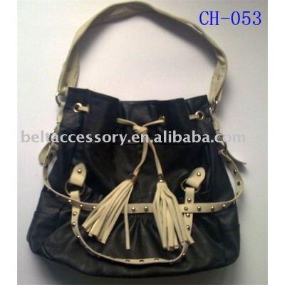 Black Normal Use Tassel Lady shoulder bag