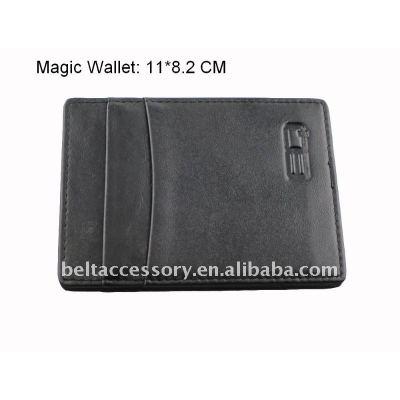 Multi-functional Black Leather Fashion Magic Wallet