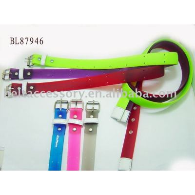 Solid Silicon Belt with Roller Buckle