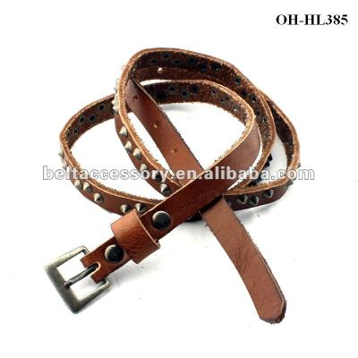 Real Leather Belts For LADY with STUDS