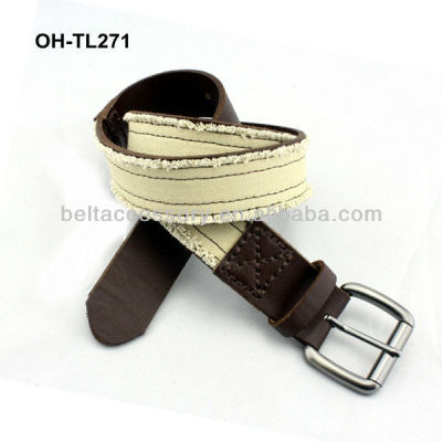 Pure leather cream color peruvian belt