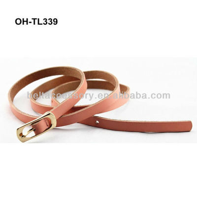 Pink leather fancy belts for women