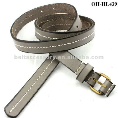 Middle stitched women cowhide belt