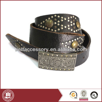 Rhombus Studded Leather belt