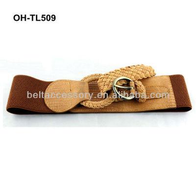 Ladies wide elastic belt