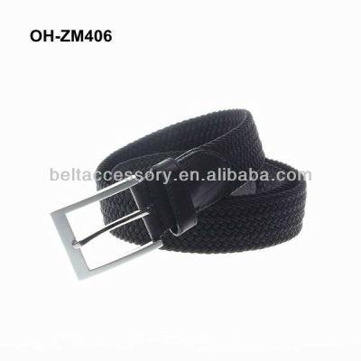 Leather men elastic belts