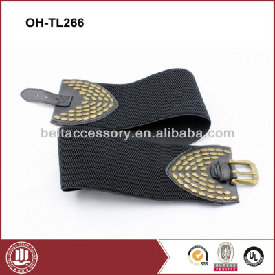 Wide Fashion Elastic Belts for Jeans