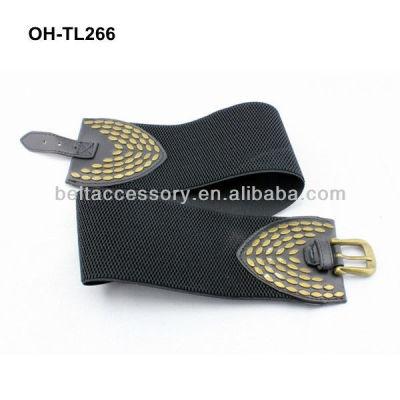 Wide elastic waist belt dressing