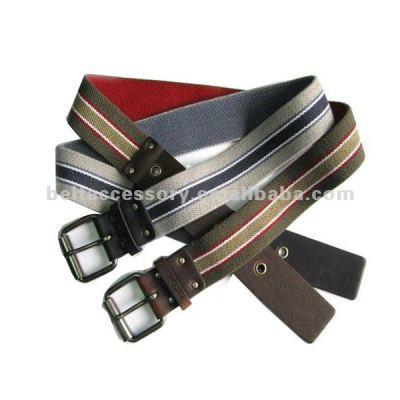 Mens color cotton belt