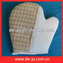 Hemp And Terry Cloth Scrubber Gloves Body Cleaning Back Gloves