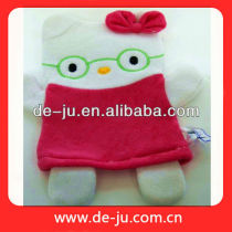 Red Kitty Colored Gloves Soft Terry Cloth Body Cleaning Kids Bath Gloves
