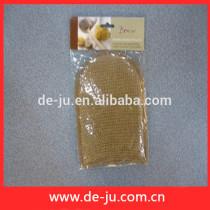 China 100% Natural Sisal Scrubber Hand Pad Mitt Gloves Scrubber Brush