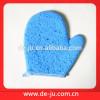 Wholesale Light Blue Full Cellulose Sponge Bath Gloves Shower Mitt