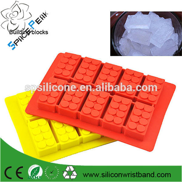 2014 new summer Chocolate mould silicone Ice cube Trays mold legoes ice building block shape Bar Par