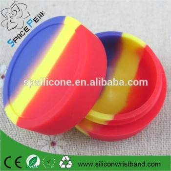 100% high quality E-cigarette Oil Package Colorful Ball Shape Silicone Oil Wax Smoke Pack Box