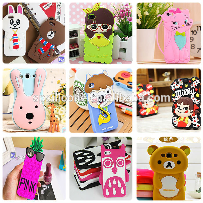 2014 NEW universal rabbit ear silicone mobile phone case