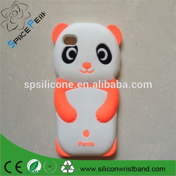 hot sale lovely 3D animal shaped Panda bear Silicon Soft mobile phone Case Cover Back Skin