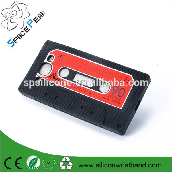 Mobile Phone Cases Stylish Cassette Tape Silicone Rubber Case Cover