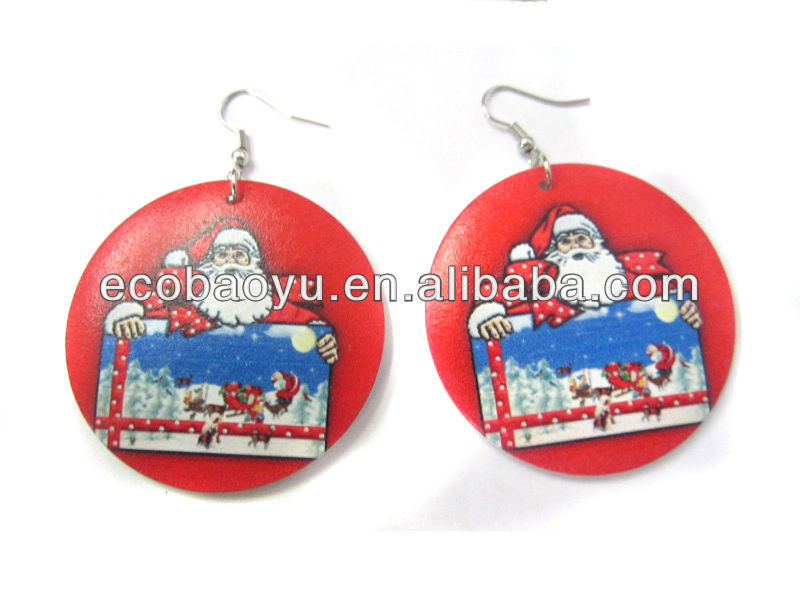 Merry Christmas Earring / Christmas Earring / Christmas Wood Earring
