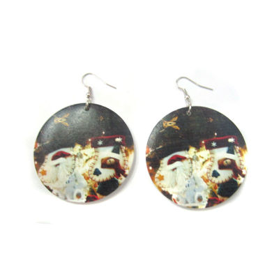 Merry Christmas Earring / Christmas Earring / Christmas Wood Earring