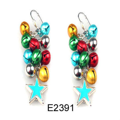 Colourful Christmas Earring / Christmas Bell Earring / Custom Christmas Earring