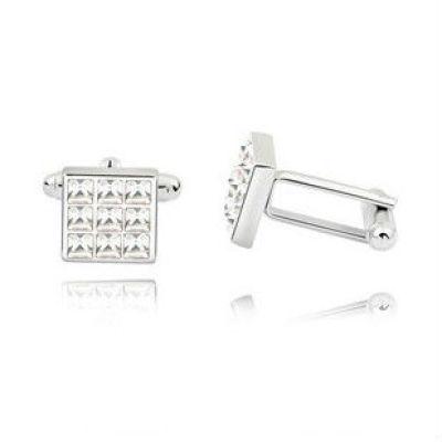 Crystal Jewelry Cuff Links
