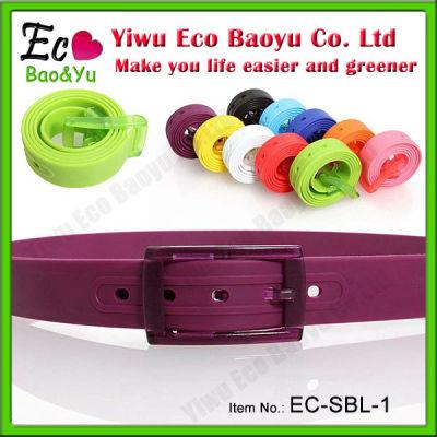 Colorful Silicone Belt Summer Golf Belt Plastic Belt