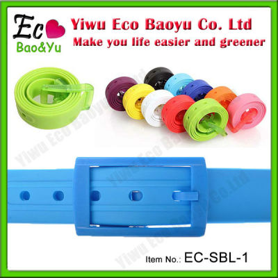 Cute Colorful Silicone Belt Waterproof Silicone Belt