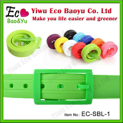 Eco-friendly Colorful Silicone Belt In Stock