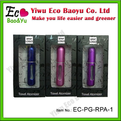 2013 Best Hot Seller Promotional Item 5ML Refillable Travel Atomizer With Box