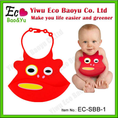 Cute Eco-friendly Silicone Baby Bibs
