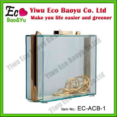 Hot Selling Acrylic Clear Clutch Bag Transparent Clutch Bag