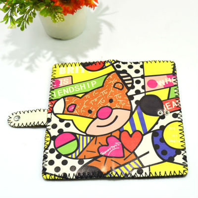 Animal Leather Wallet Wholesale Leather Wallet Bear Leather Wallet