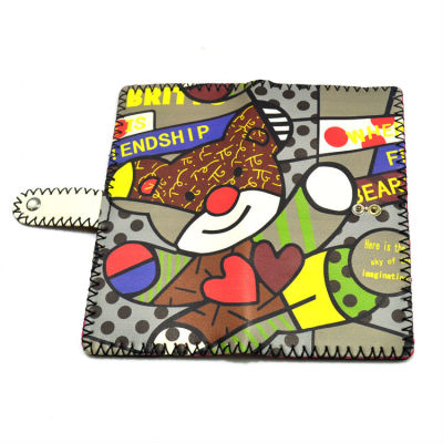 Freindship Gift Wallet - Hand Painted Leather Wallet Bear Wallet
